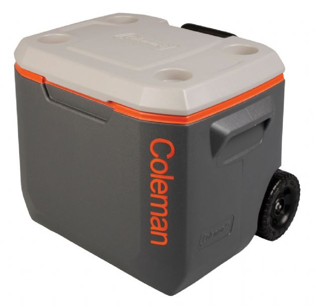 Coleman 50 Quart Xtreme Wheeled Cooler Coolbox - Tri Colour, Camping & Fishing Coolboxes - Grasshopper Leiusre